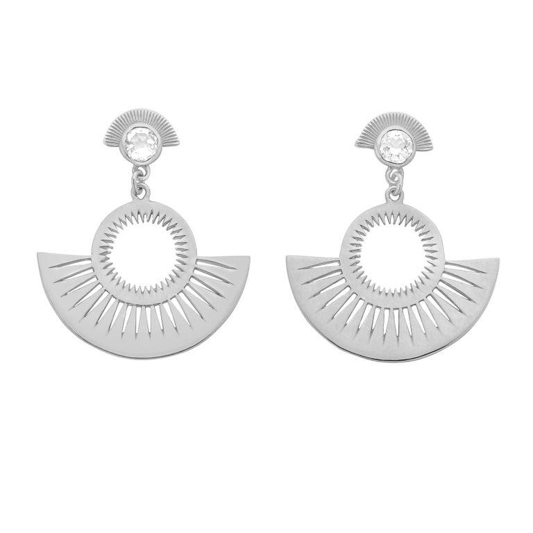 Zoe And Morgan Silver Pocket Full Of Sunshine White Zircon Earrings For