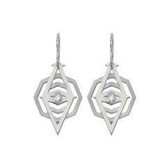 Zoe & Morgan Silver Kathmandu White Zircon Earrings