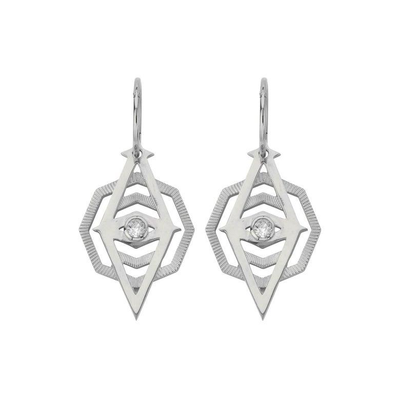 Zoe Morgan Silver Kathmandu White Zircon Earrings For