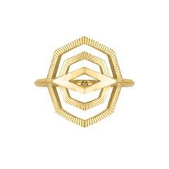 Zoe & Morgan Gold Patan Ring