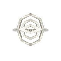 Zoe & Morgan Silver Patan Ring