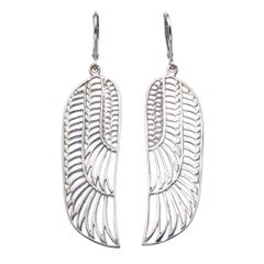 Zoe and Morgan Silver Wing Earrings