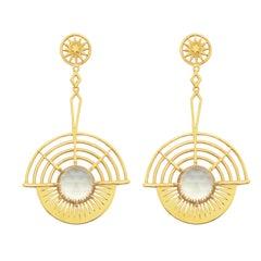 Zoe and Morgan Gold Lemon Quartz You Are My Sunshine Earrings