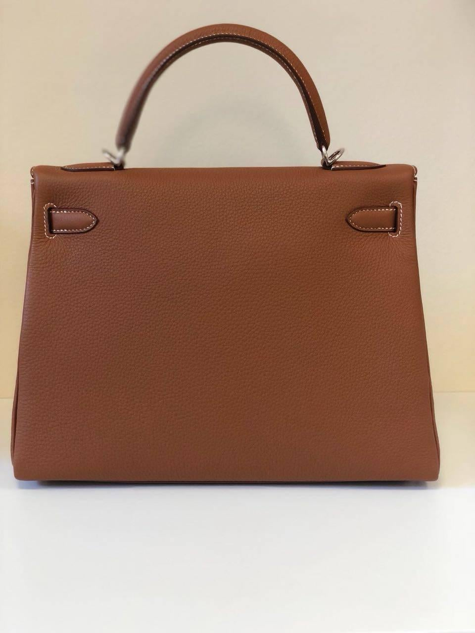 fa644356449 ... cheap brown hermes bag kelly 32 gold togo phw new for sale dd44c 6c7c7