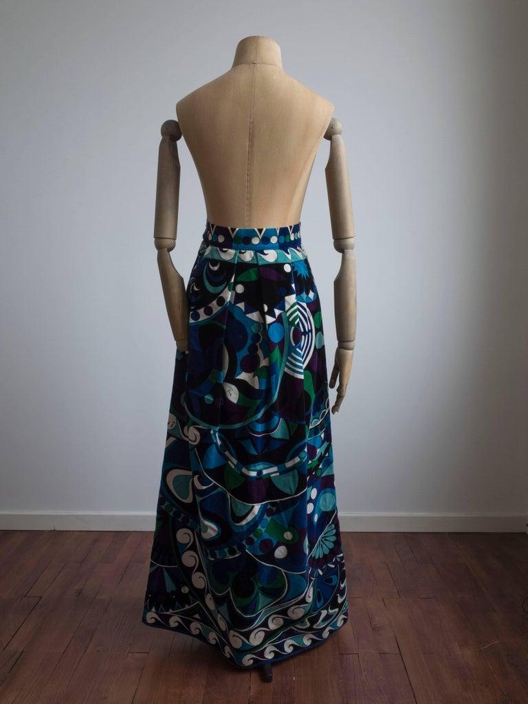Black 1960s Emilio Pucci Skirt For Sale