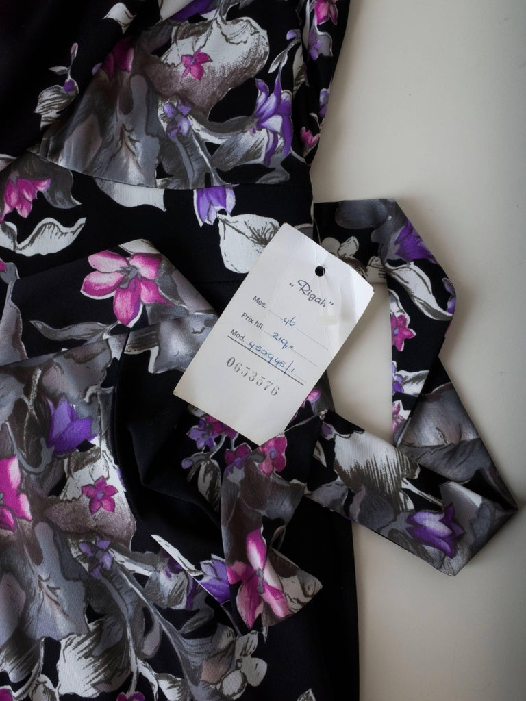 1960s Floral Print Gown For Sale 2