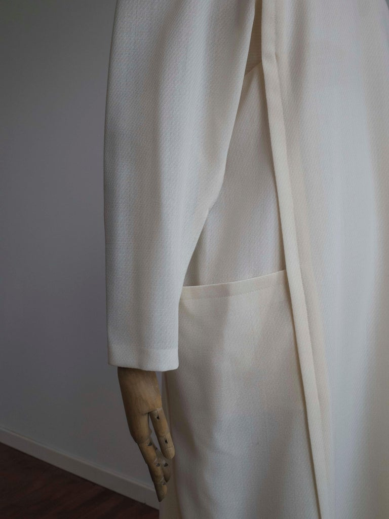 1960s Cream Wool Dress In New Condition For Sale In Antwerp, BE