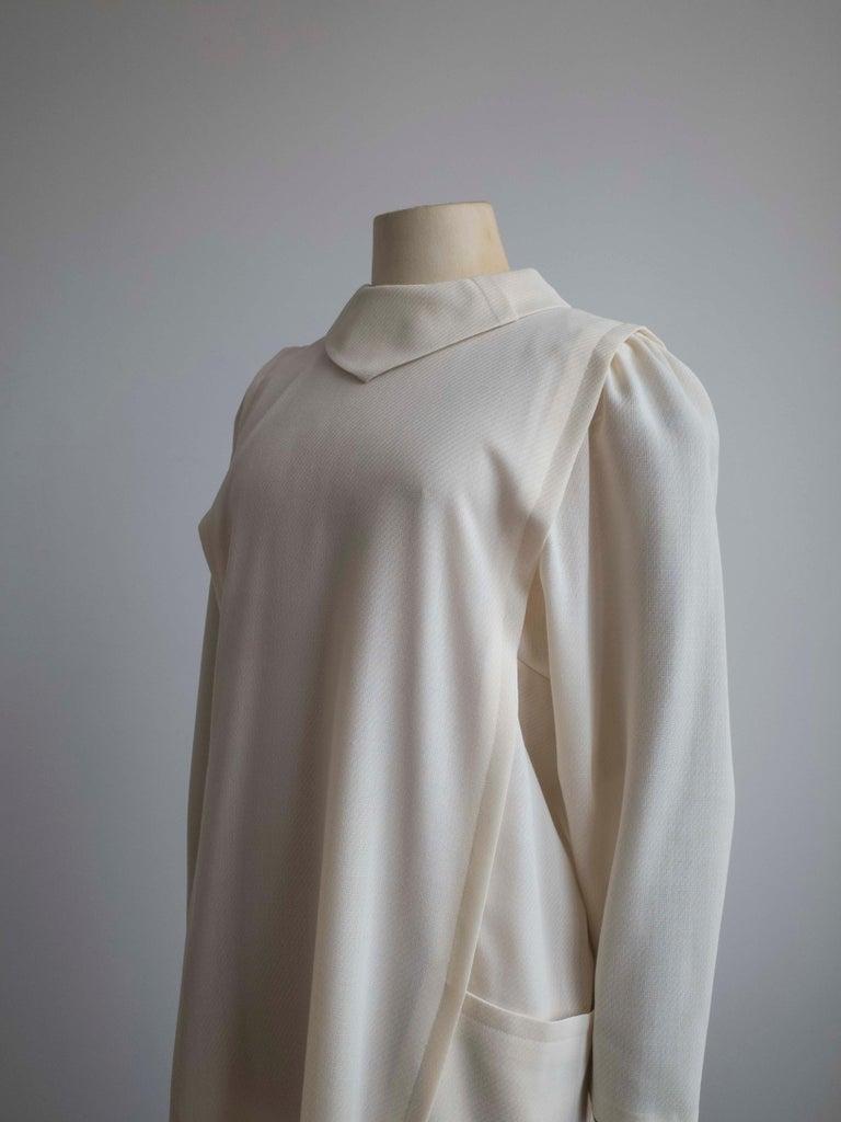 Women's 1960s Cream Wool Dress For Sale