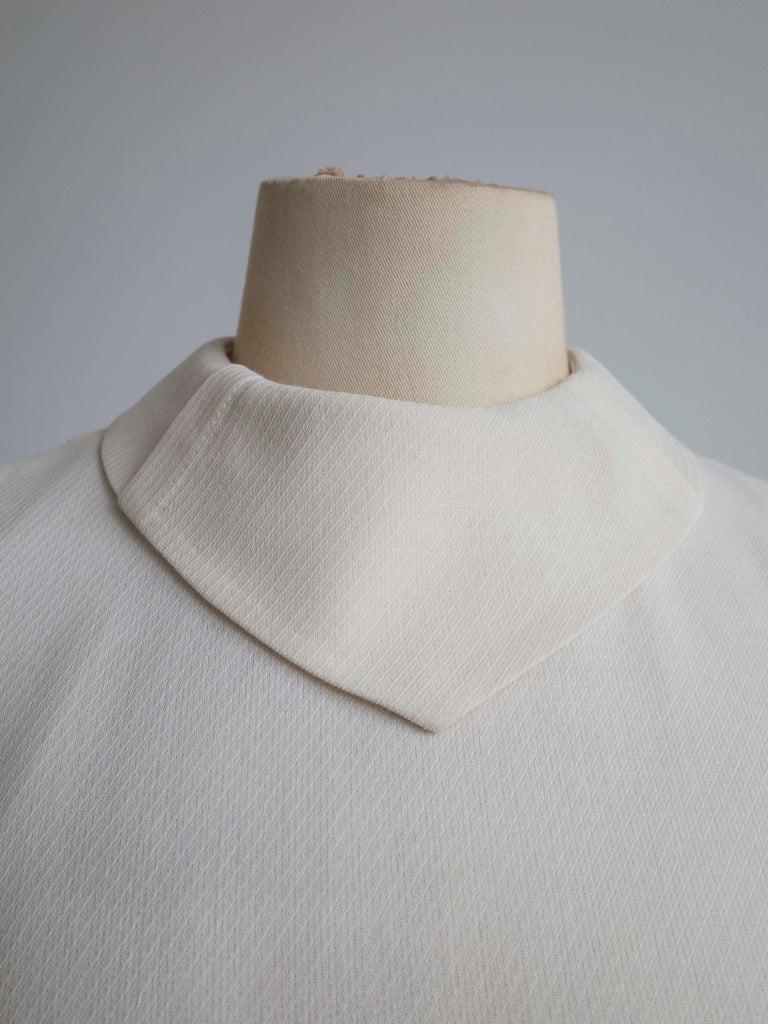 1960s Cream Wool Dress For Sale 1