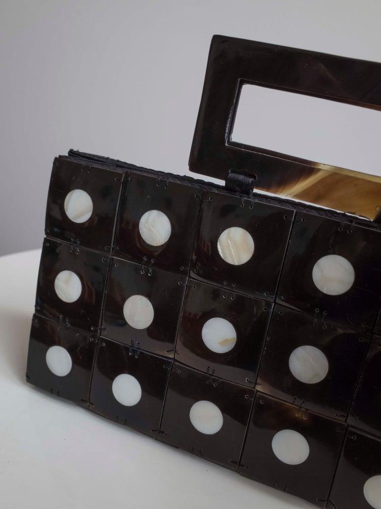 Black Art Deco Celluloid Box Purse,Evening bag For Sale