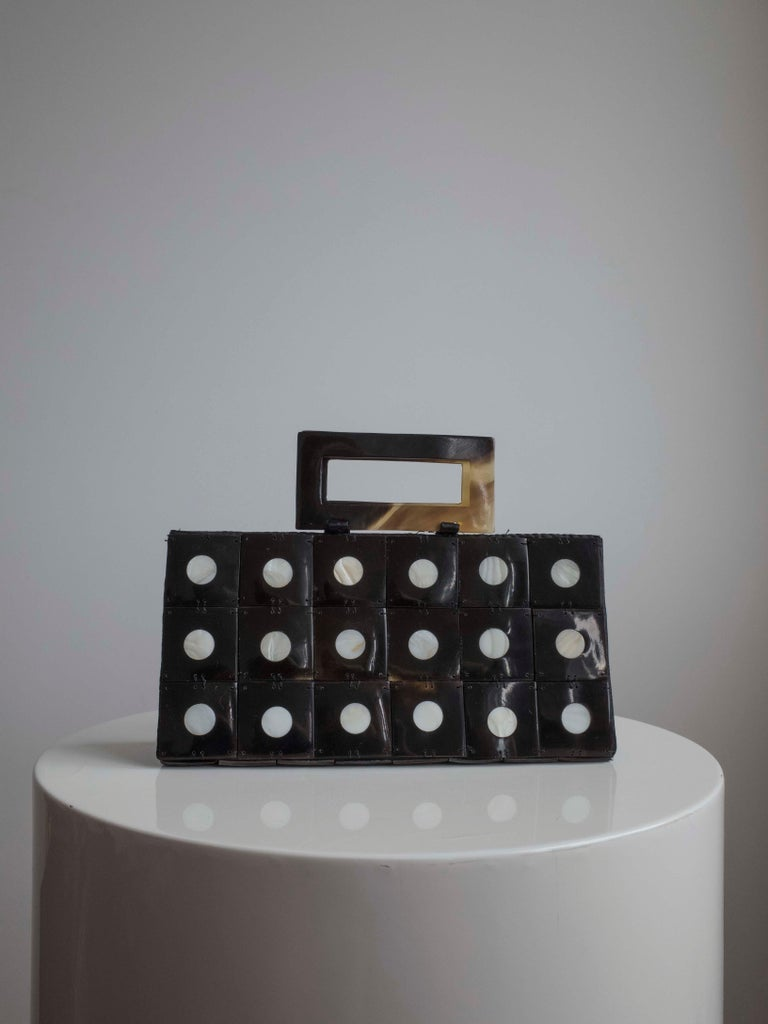 Art Deco Celluloid Box Purse,Evening bag In Excellent Condition For Sale In Antwerp, BE
