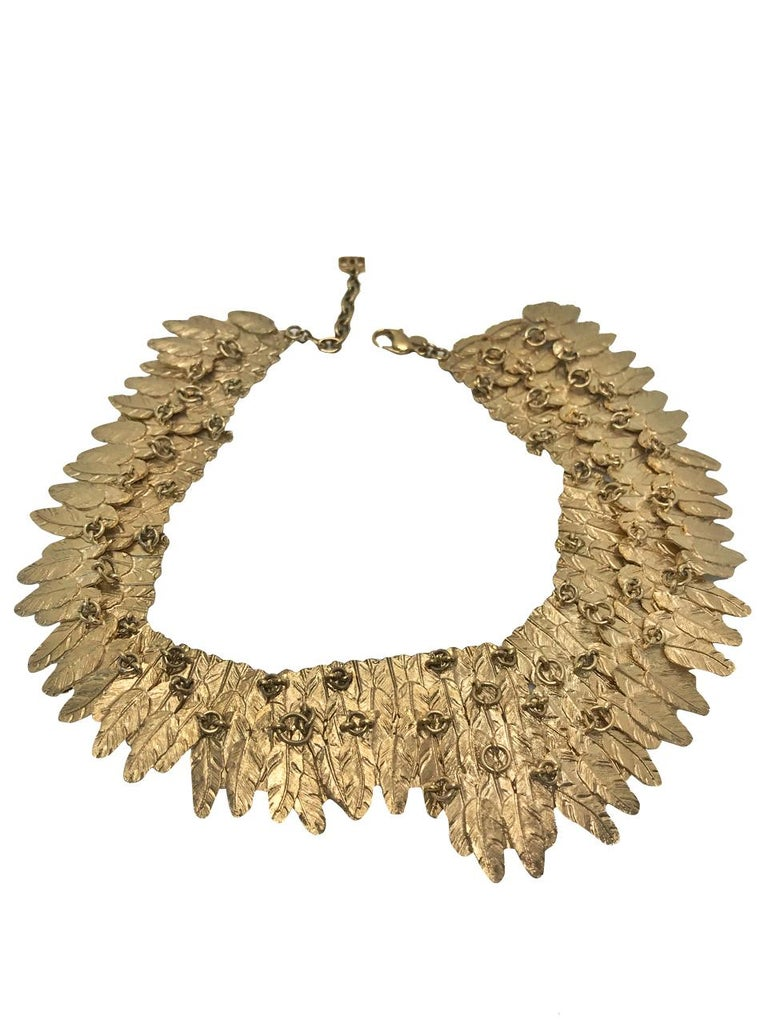 Chanel Feather Collar Choker Necklace.  Made in 2008 for the Autumn Winter collection.  Simply breath taking piece, really difficult to find now.    Featured in the New York Museum of Art and Design's Exhibition of Fashion Jewellery by Barbara
