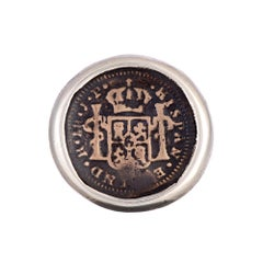 Conquistador Sterling and Bronze Coin Ring