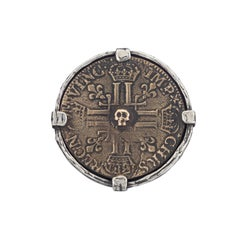 King Lewis French Skull Coin Ring
