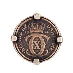 Danish Kroner Coin Ring