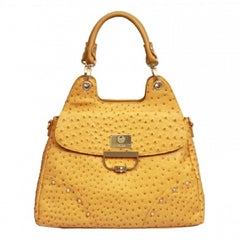 "Ostrich Print faux leather ""Stingray"" Bag by Feri"