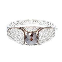 Siledium Silver Rhodium Palladium Plating Clamper Bracelet by Feri