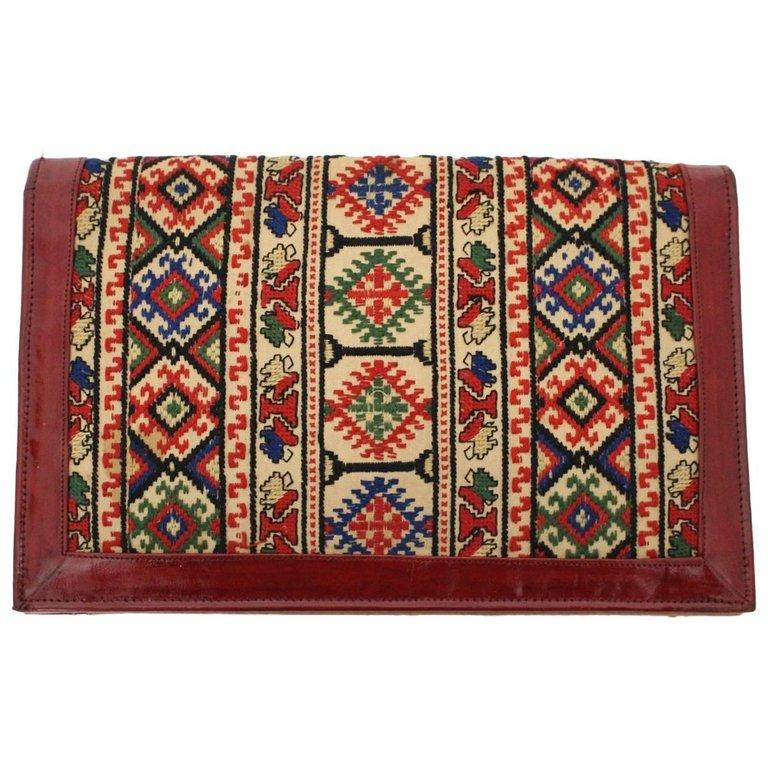 Multicolored Vintage Clutch 1930s Eastern Europe