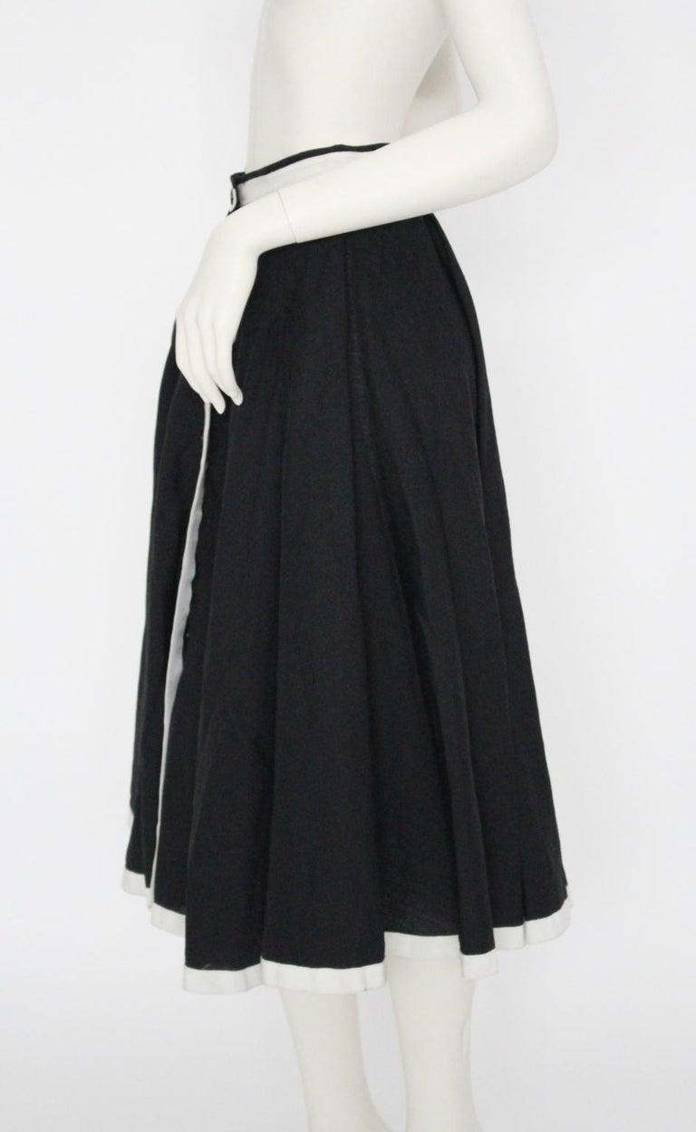 87b8868dd2 Jean Louis Scherrer boutique Vintage Skirt 1980s Black and White Paris  1980s For Sale 2