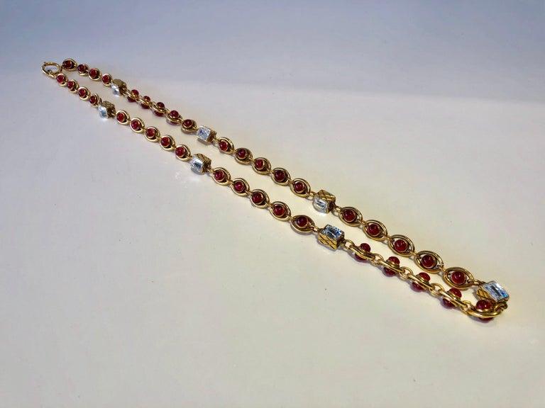 Chanel 1980's Byzantine Diamanté Gripoix Statement Necklace  8
