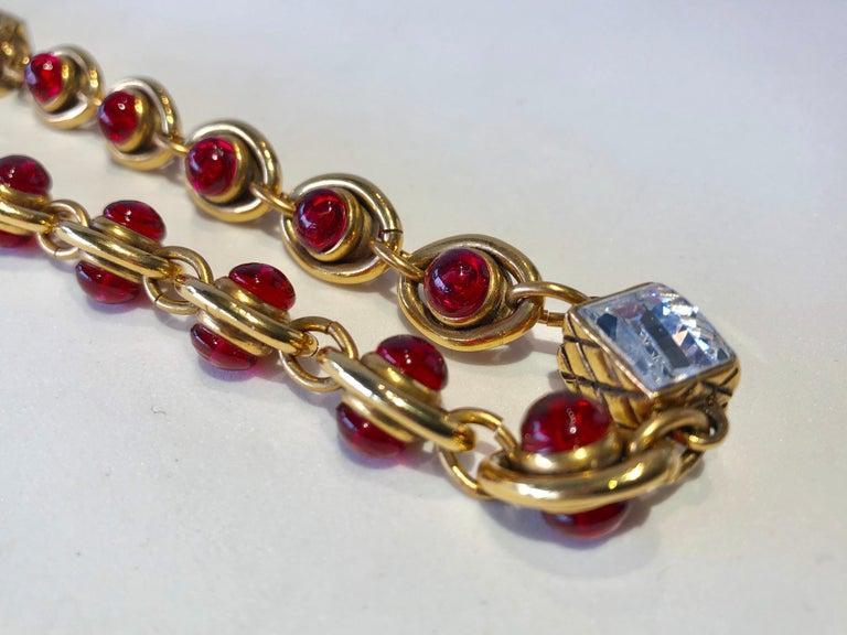 Chanel 1980's Byzantine Diamanté Gripoix Statement Necklace  10