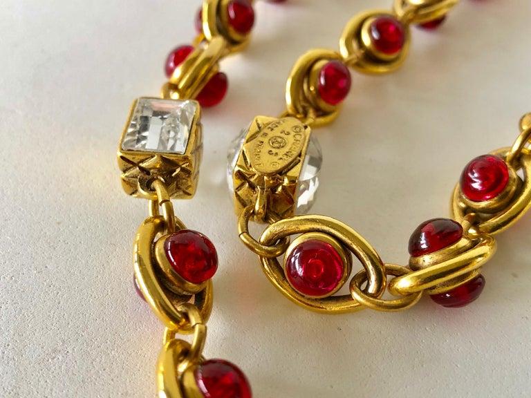 Chanel 1980's Byzantine Diamanté Gripoix Statement Necklace  12