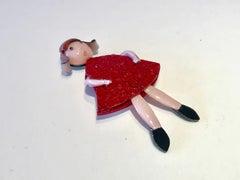 French Girl Statement Pin/Brooch