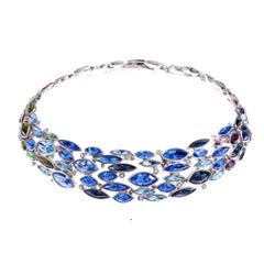 Simon Harrison Aquarius Ombre Crystal Necklace