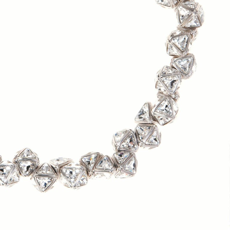 Women's Simon Harrison Ice Flow Crystal Pyramid Necklace For Sale
