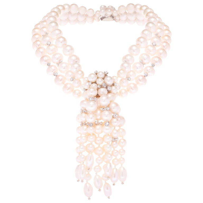 Simon Harrison Audrey Freshwater Pearl Necklace For Sale