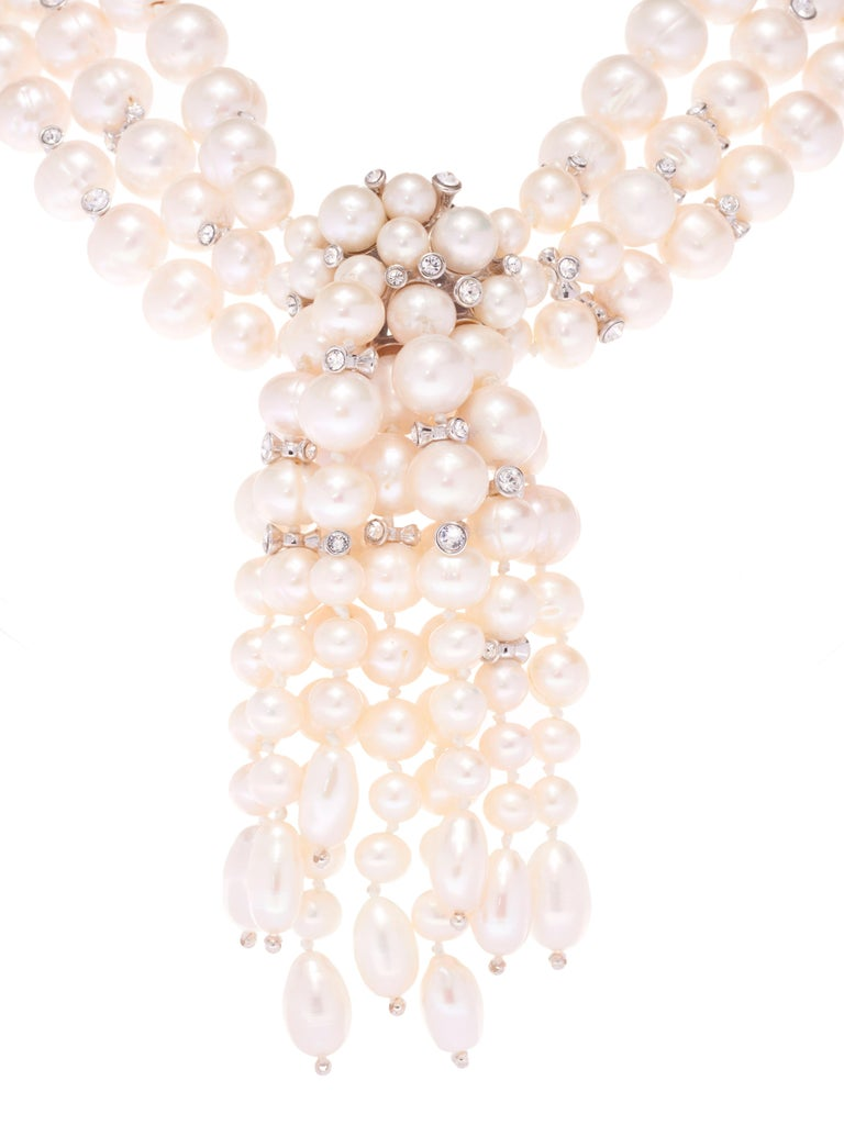 Contemporary Simon Harrison Audrey Freshwater Pearl Necklace For Sale