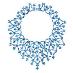 Simon Harrison Claudette Large Aquamarine Crystal Necklace