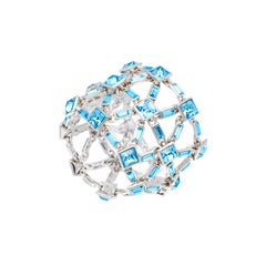 Simon Harrison Claudette Aquamarine Crystal Bracelet