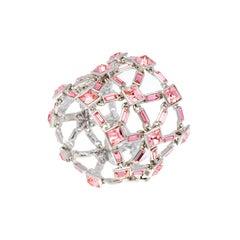 Simon Harrison Claudette Pink Crystal Bracelet