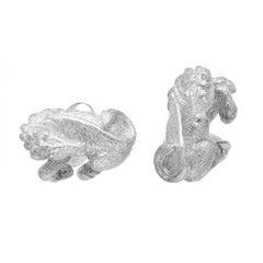 Simon Harrison Zodiac East Sterling Silver Horse Cufflink