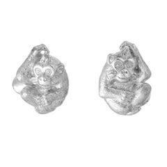 Simon Harrison Chinese Zodiac Monkey Cufflink