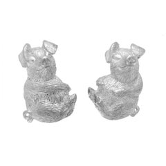 Simon Harrison Zodiac East Sterling Silver Pig Cufflink