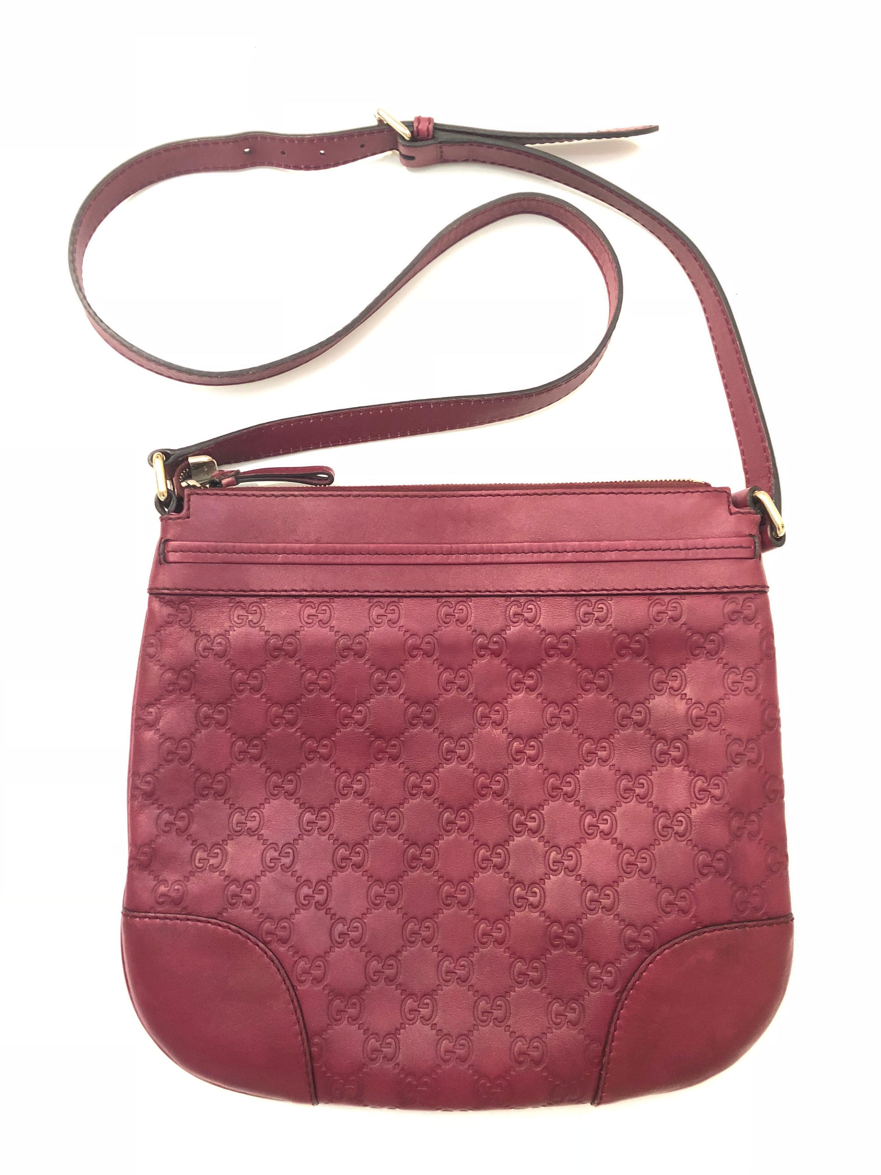 a8f8cbef6418f1 Gucci Guccissima Monogram Crossbody Bag For Sale at 1stdibs
