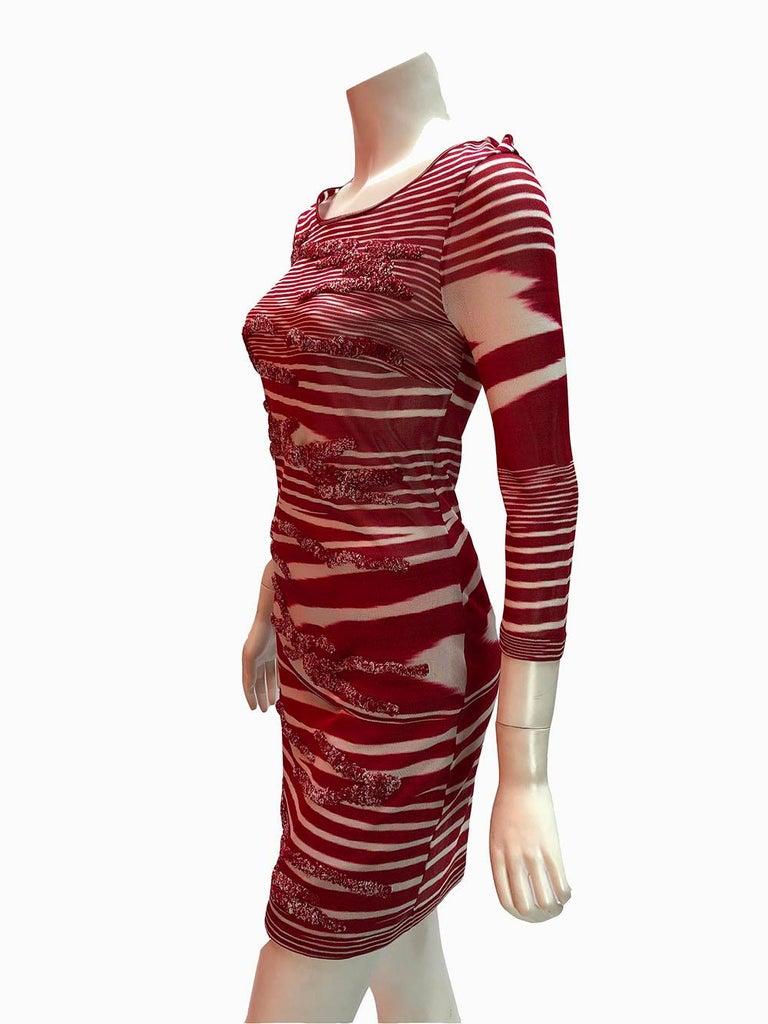 Brown Missoni Knit Bodycon Dress For Sale