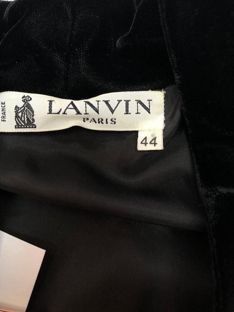 Women's Lanvin Vintage Gold Brocade Black Velvet Smoking Jacket For Sale