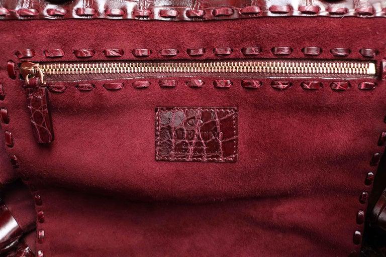 Women's or Men's Valentino C-Rockee Crocodile Tote Bag  For Sale