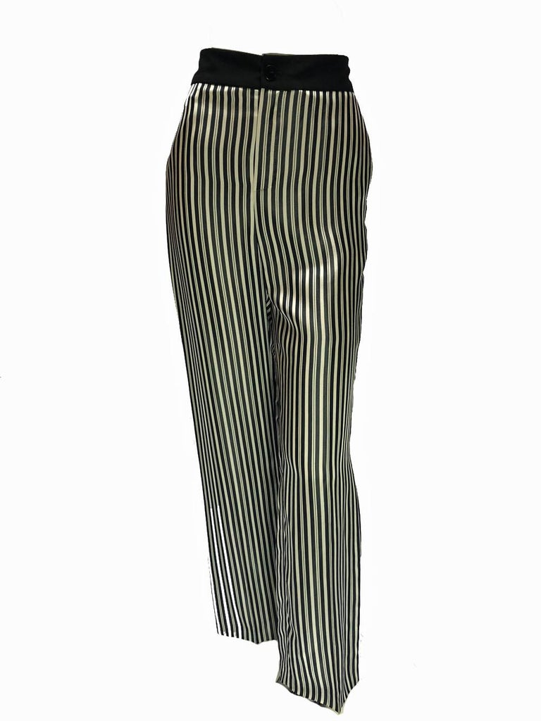 Black Lanvin Pin-Striped Ensemble  For Sale