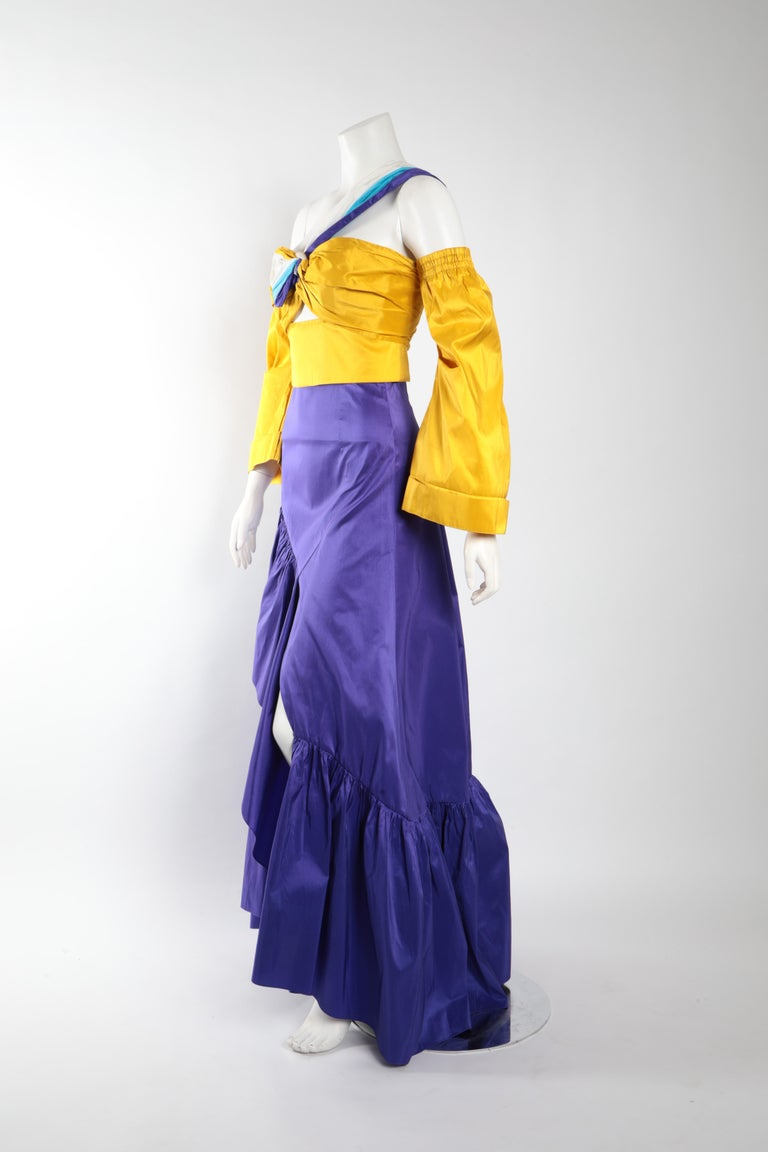 Women's Peter Pilotto Taffeta Top with Ballroom Skirt  For Sale