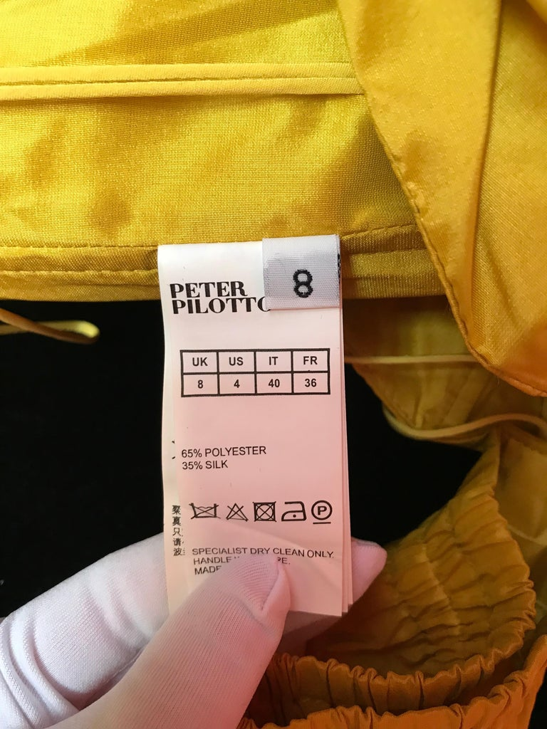 Peter Pilotto Taffeta Top with Ballroom Skirt  For Sale 2