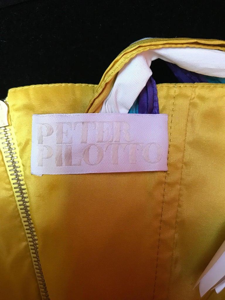 Peter Pilotto Taffeta Top with Ballroom Skirt  For Sale 1