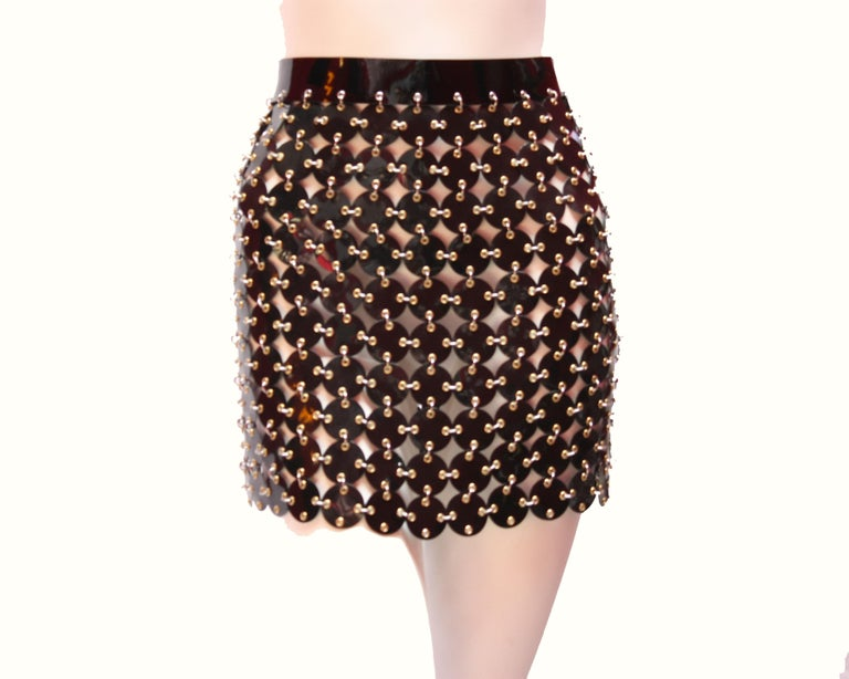 Black Paco Rabanne chainmail skirt  For Sale