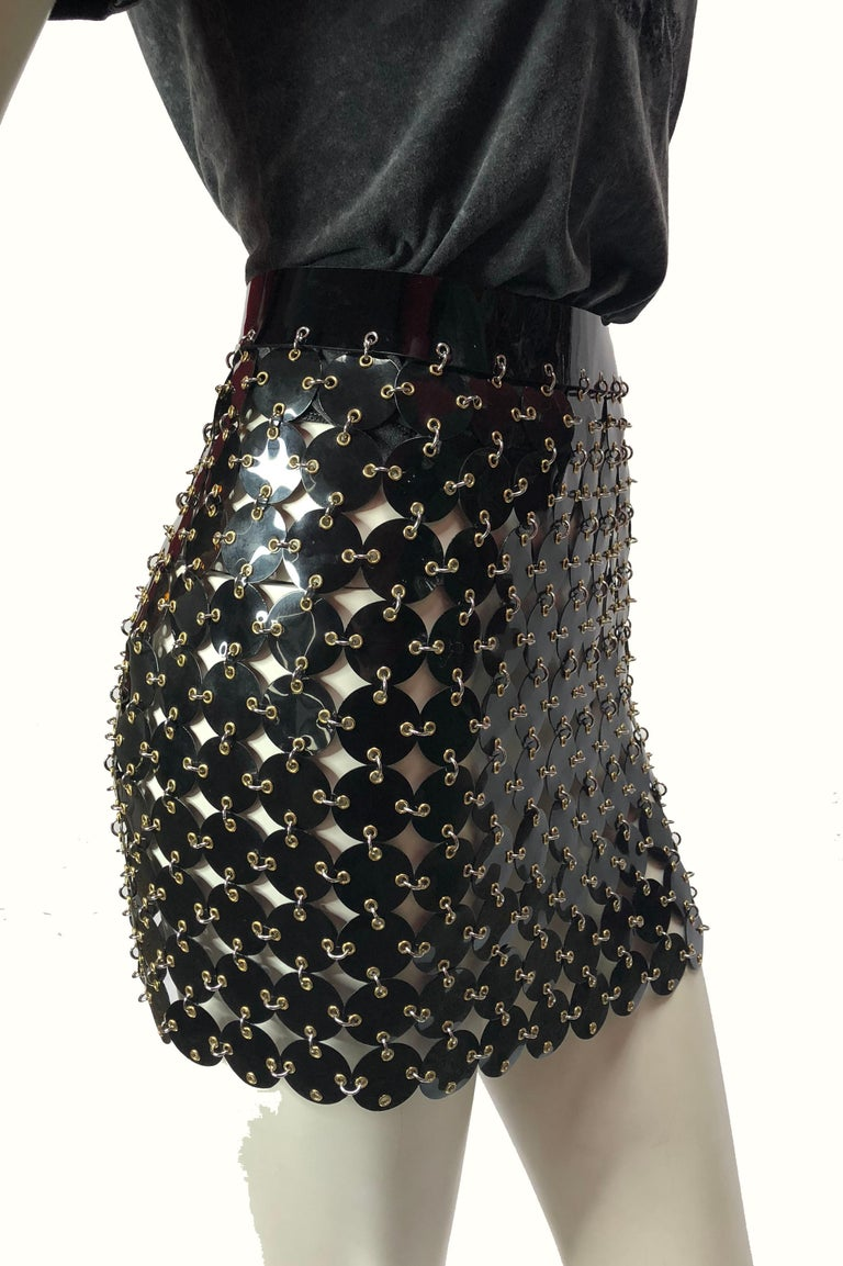 Paco Rabanne chainmail skirt  In New Condition For Sale In Los Angeles, CA