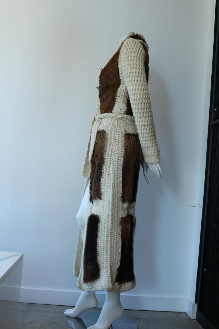 Christian Dior Vintage Maxi Cardigan  In Excellent Condition For Sale In Los Angeles, CA