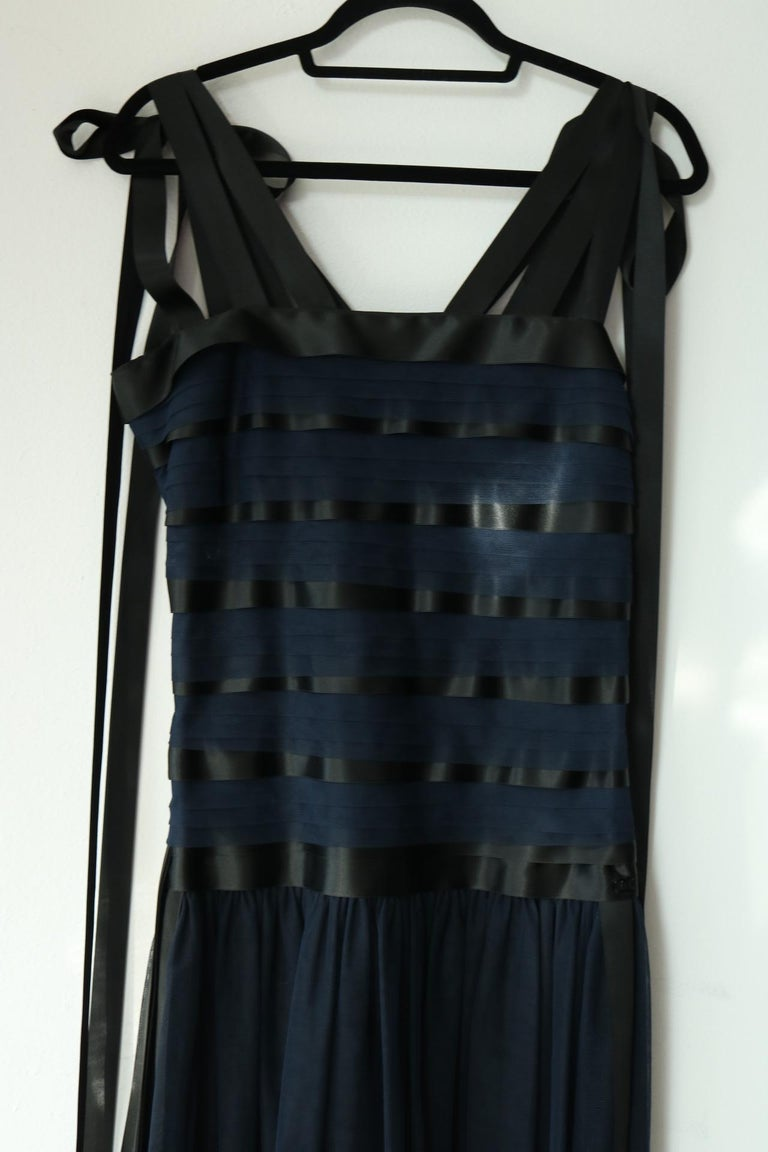 Chanel Runway Ribbon Cocktail Dress  For Sale 1