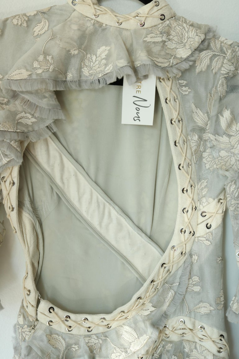 Zimmermann Eyelet Trimmed Gown  For Sale 2